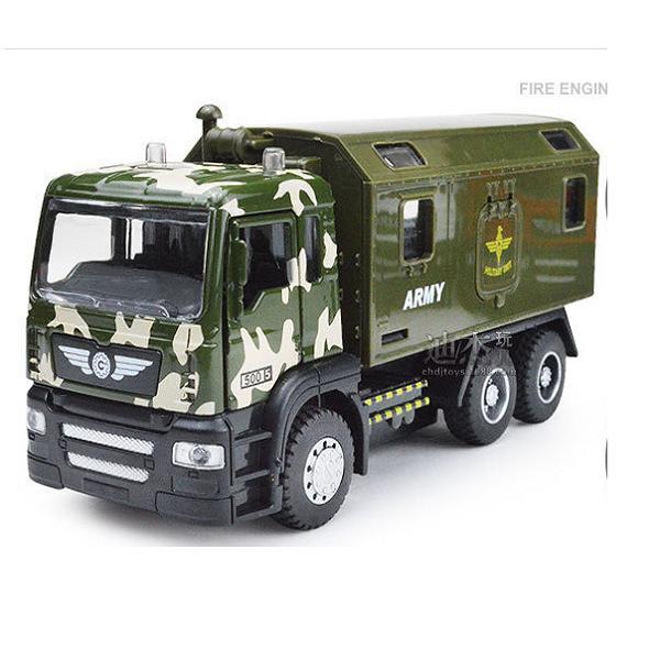 Hình ảnh Xe tải quân sự bằng sắt mô hình đồ chơi ô tô trẻ em