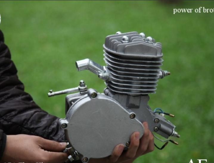 động cơ gắn xe đạp chạy xăng, động cơ xăng 2 thì chế xe đạp 50cc