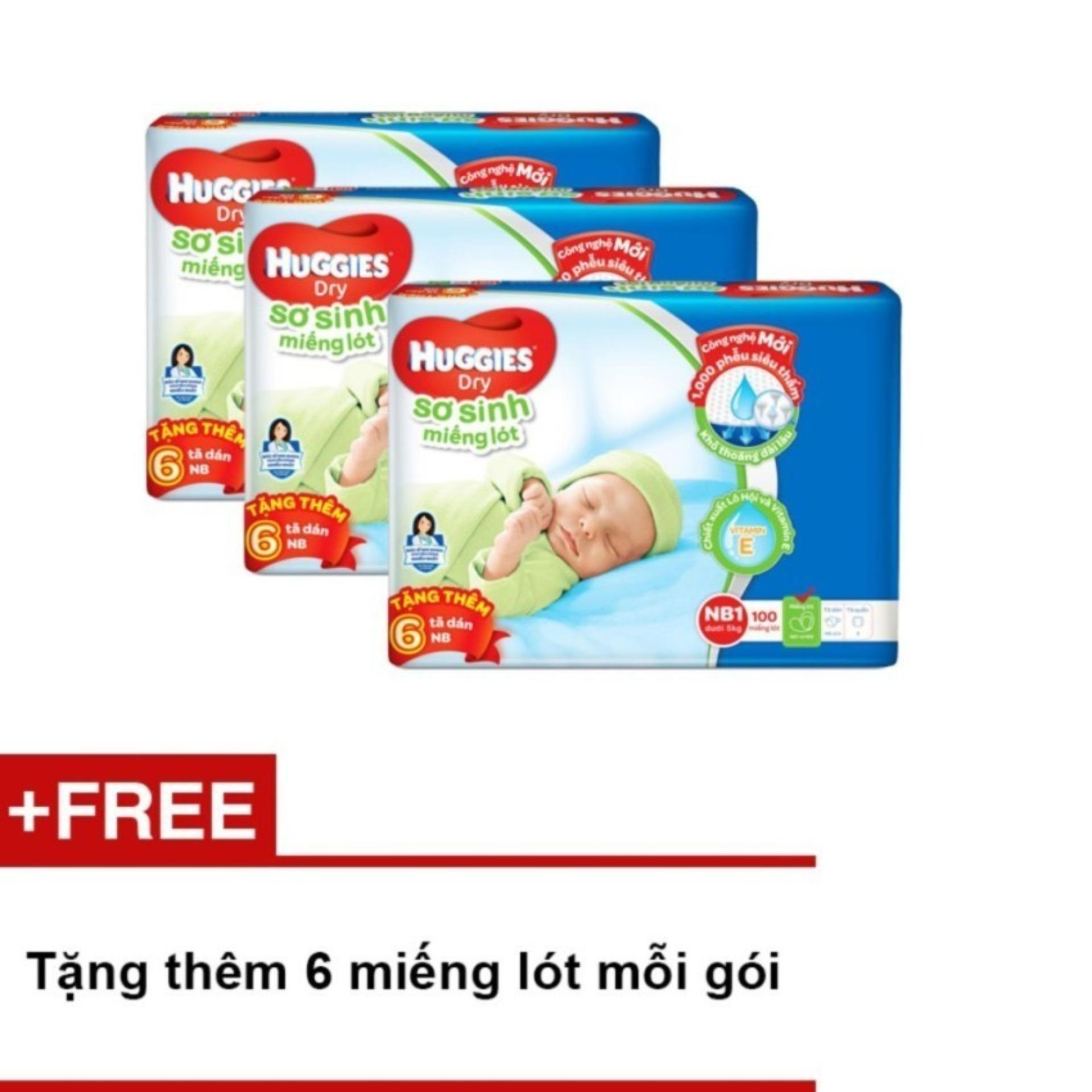 Chiết Khấu Bộ 3 Miếng Lot Sơ Sinh Huggies Newborn 1 5Kg N100 Goi 100 Miếng Tặng Them 6 Miếng Lot Mỗi Goi Vietnam