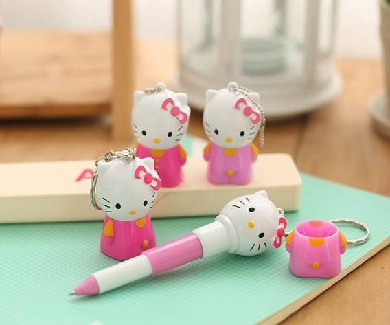 Bút bi kiềm móc khóa Kitty Nhật Bản