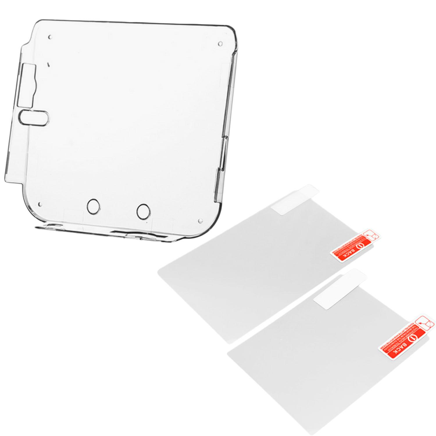 Hình ảnh Clear Shockproof Silicone Protective Skin Wrap Case Cover Shell Sleeve with 2 Screen Protector Film for Nintendo 2DS Console - intl