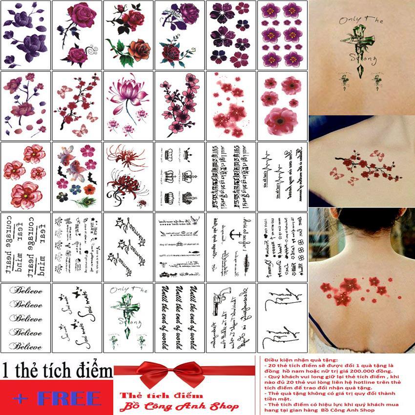 Hình ảnh Set 30 miếng dán hình xăm cực độc- cực đẹp + Tặng thẻ tích điểm