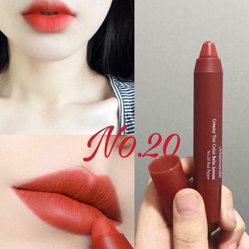 Hình ảnh Son bút chì Mamonde Creamy Tint Color Balm Intense Màu 20