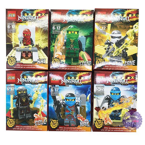 Hình ảnh Bộ 6 hộp đồ chơi lắp ráp NinjaGo bằng nhựa 3D499
