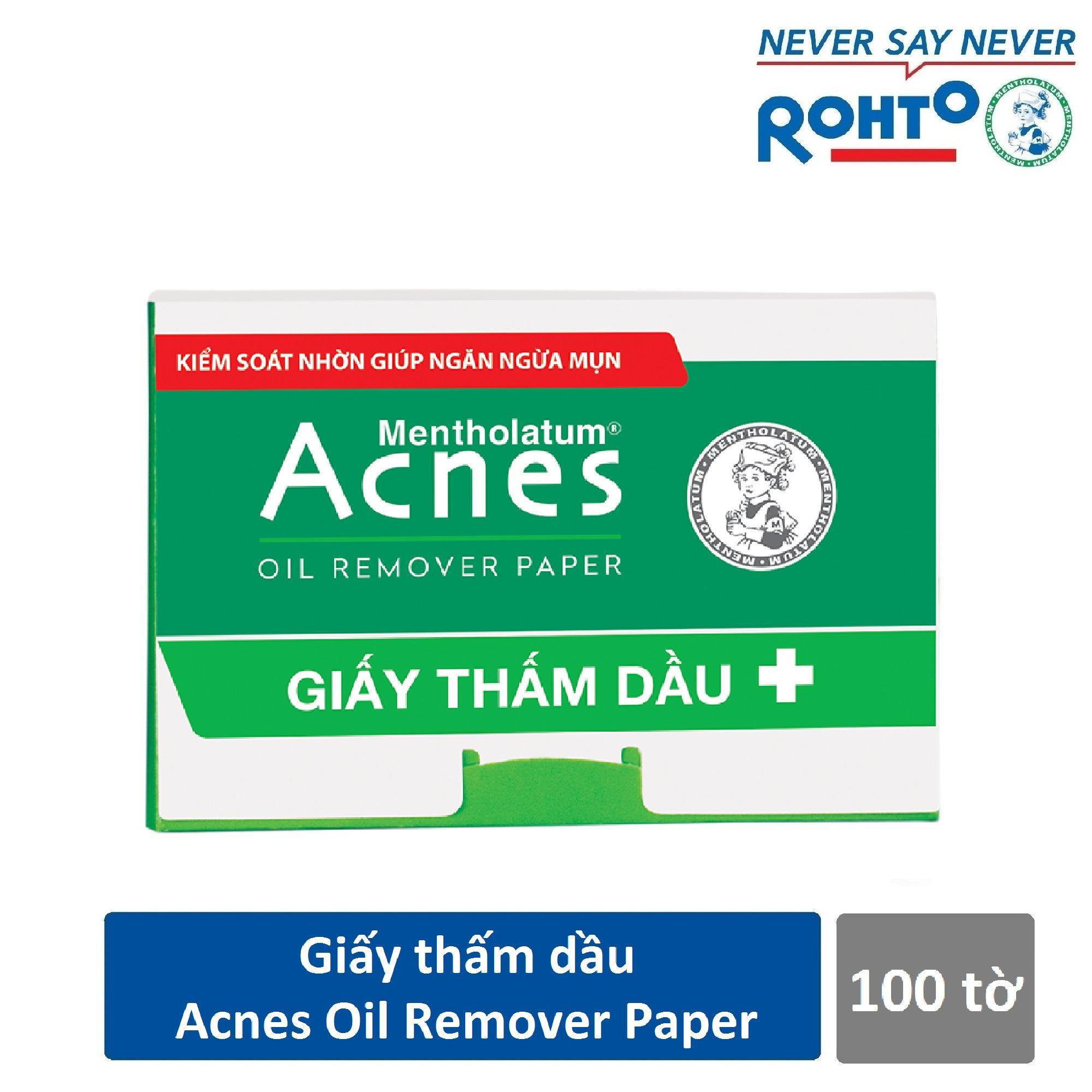 Hình ảnh Giấy thấm dầu Acnes Oil Remover Paper (100 tờ)