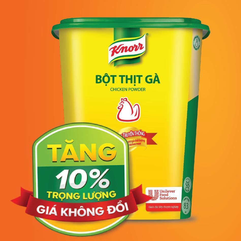 Bột Thịt Gà Knorr tăng trọng lượng 10% giá không đổi Nhật Bản