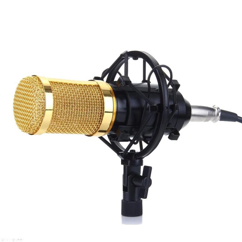 Mic thu âm BM850/Zansong/Ami BM900 chuyên nghiệp - Micro live stream,karaoke online cực hay (Màu vàng đen)