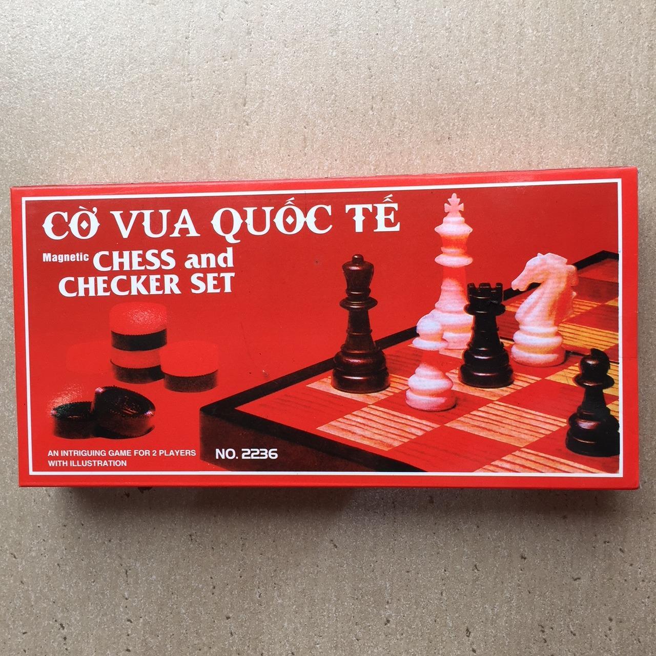 Hình ảnh Bộ cờ vua nam châm gấp gọn 28cm x 28cm