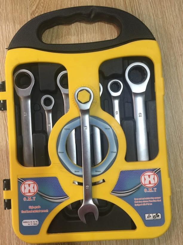 Cờ lê vòng miệng tự lắc - Bộ cle đa năng 8-19mm, tiện dụng