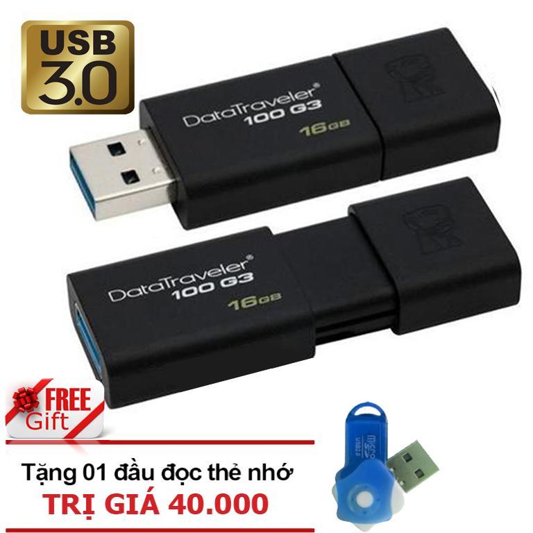 Ôn Tập Usb 3 16Gb Kingston Datatraveler 100 G3 Đen Hang Phan Phối Chinh Thức Tặng Đầu Đọc Thẻ Nhớ Micro Pt Hồ Chí Minh