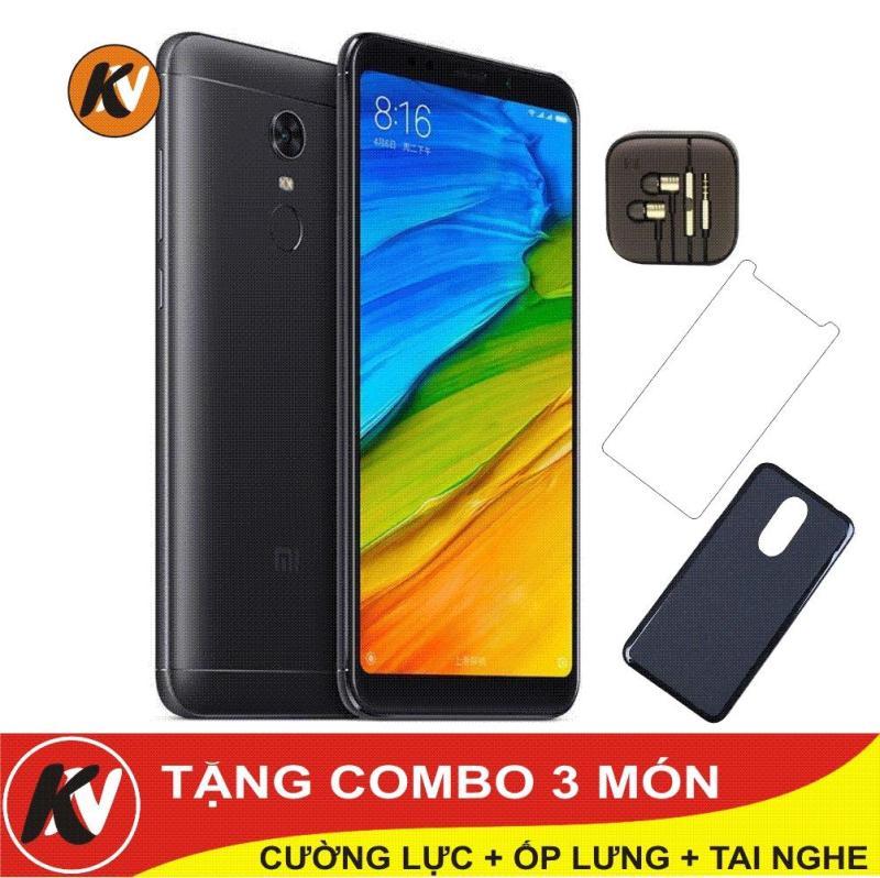 Xiaomi Redmi 5 Plus 64GB Ram 4GB Kim Nhung (Đen) - Hàng nhập khẩu + ốp lưng silicon + Cường lực + Tai nghe
