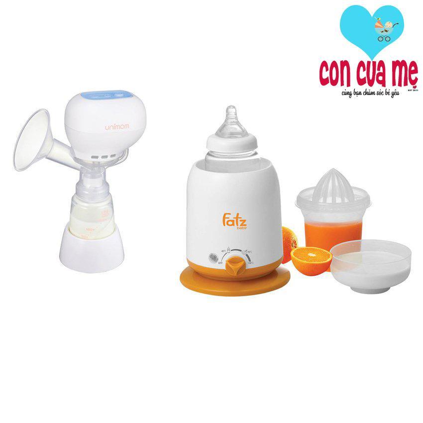 Mua Bộ 1 May Hut Sữa Mẹ Điện Tử Unimom Kpop 871104 Va 1 May Ham Nong Sữa Va Thức Ăn 4 Chức Năng Khong Bpa Fatz 3002Sl Unimom Nguyên