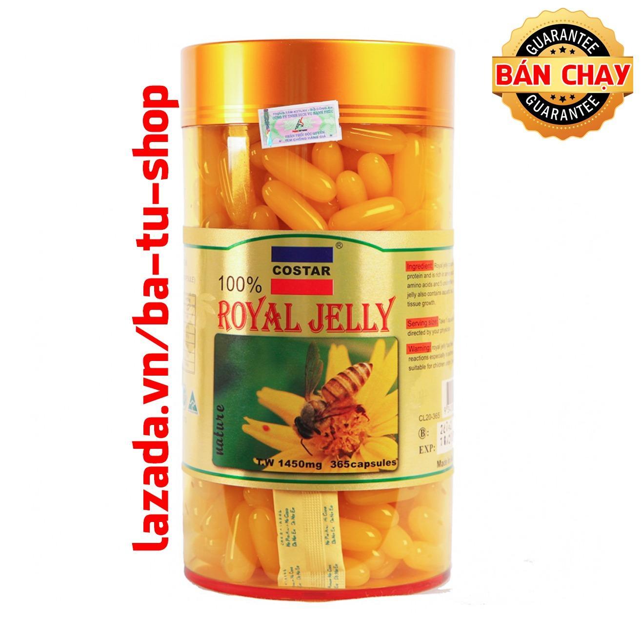 Giá Bán Sữa Ong Chua Costar Royal Jelly Soft Gel Capsules 1450Mg 365 Vien Mới Rẻ