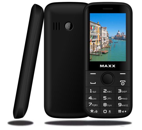 ĐTDĐ MAXX N6610 màn hình cong rộng 2.4 inch, pin khủng 1500 mAh (Đen) - Bảo hành 12 tháng