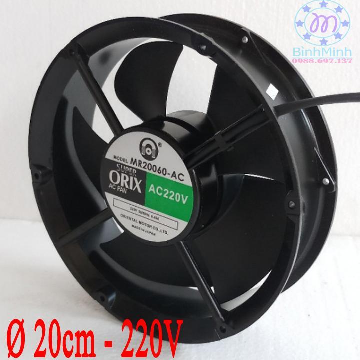 Hình ảnh Quạt thông hút gió hình tròn Orix Ø 20 cm - 220V