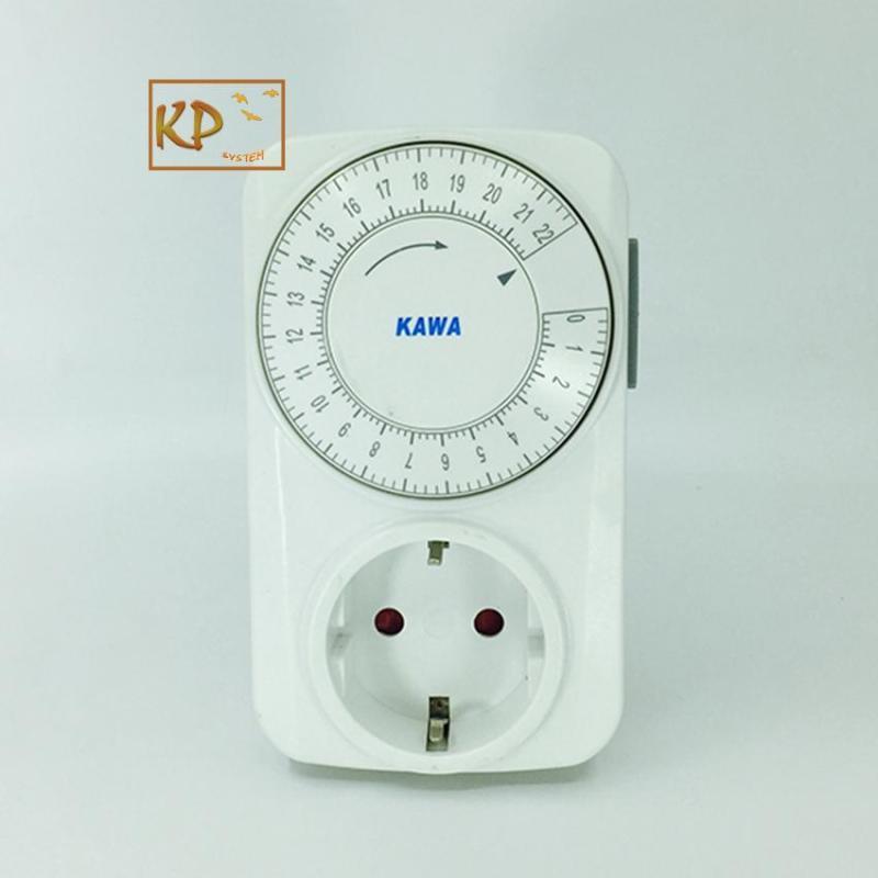 Ổ cắm hẹn giờ cơ lùi hẹn giờ tắ mở thiết bị điện Kawa KW-TG15