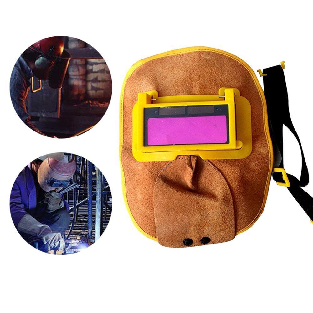 Mặt nạ da hàn che mặt có kính hàn điện tử - phụ kiện may han dong - Bảo hành 1 đổi 1