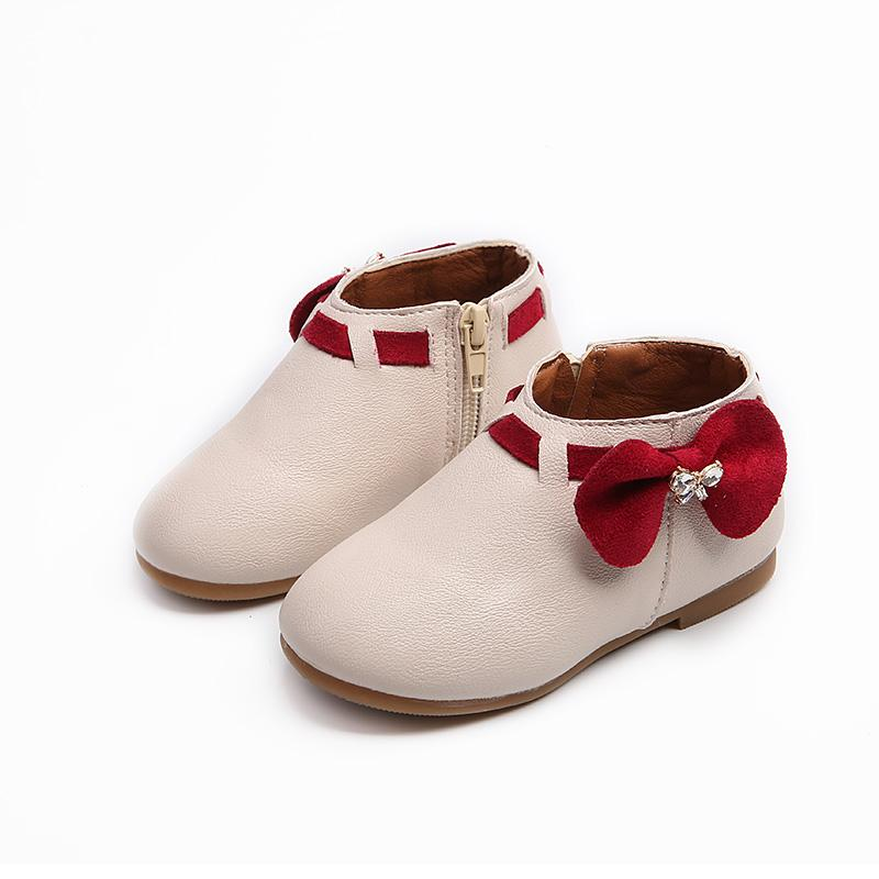 Girls  Short Boots 2018 Autumn And Winter New Style Tendon Soft Bottom Baby  Princess Boots e807808695e5