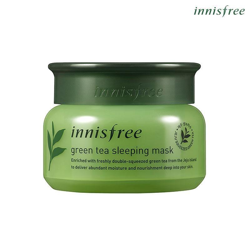 Mặt nạ ngủ dưỡng ẩm từ trà xanh đảo Jeju Innisfree Green Tea Sleeping Mask 80ml (NEW)