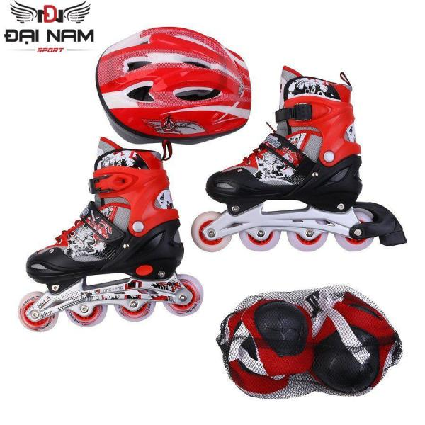 Mua Giày trượt patin Longfeng 906 size S (Dành cho trẻ dưới 6 tuổi 31-35) + Tặng bộ bảo hộ