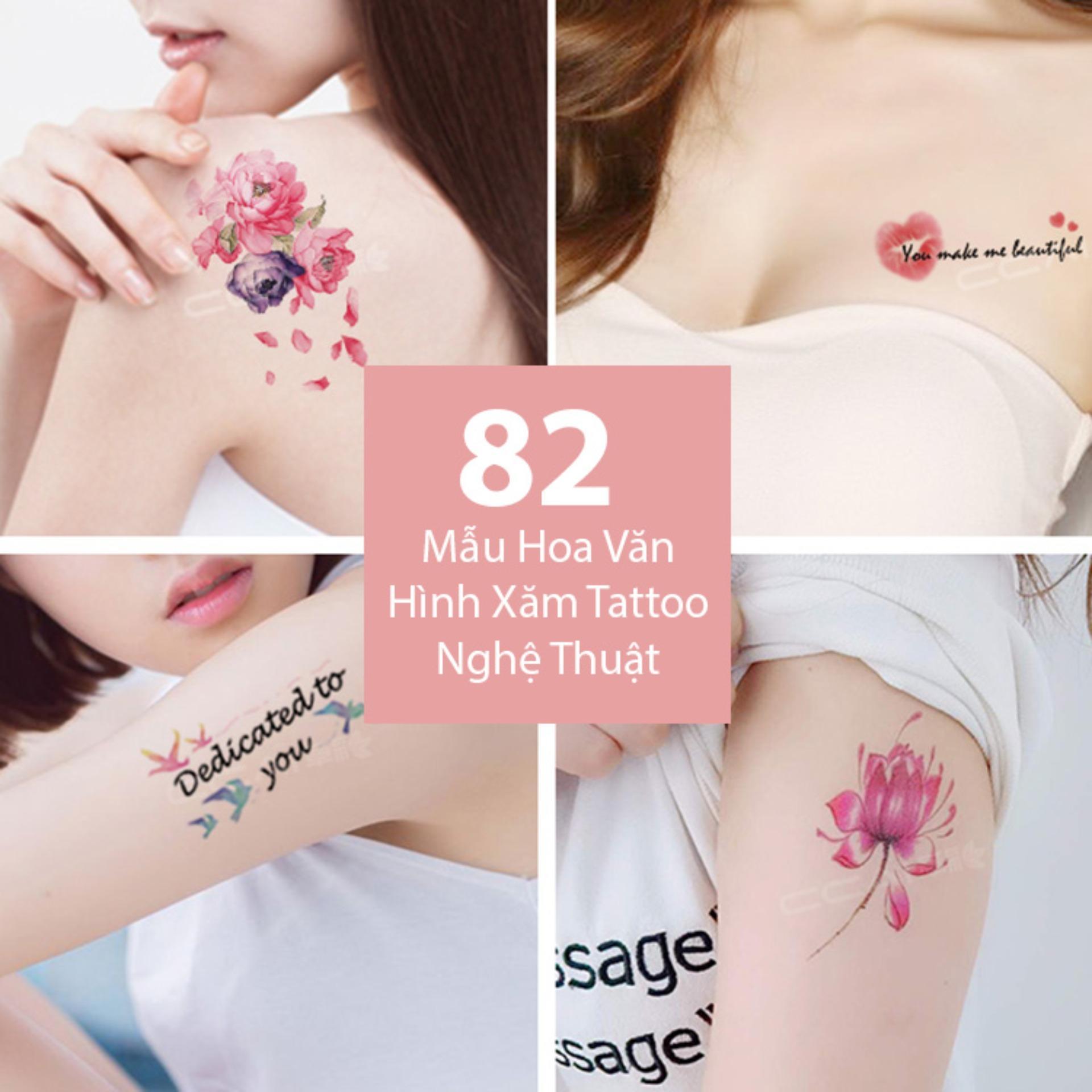 Hình ảnh Bộ 82 Mẫu Hình Xăm Dán, Hình Xăm Tattoo Cao Cấp Combo 30 Tờ - Mẫu A