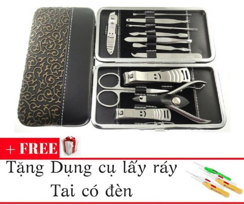 Bộ dụng cụ cắt móng 12 món + Tặng kèm bộ lấy ráy tai có đèn nhập khẩu