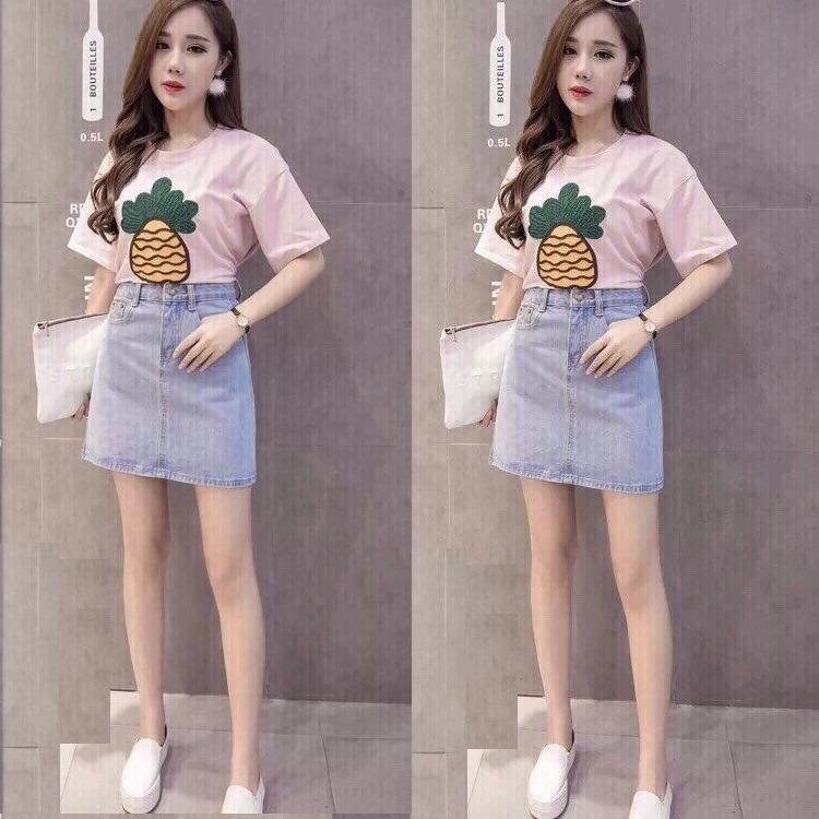 Bán Chan Vay Jeans Nữ Thời Trang Thiết Kế Kiểu Dang Sanh Điệu Có Thương Hiệu