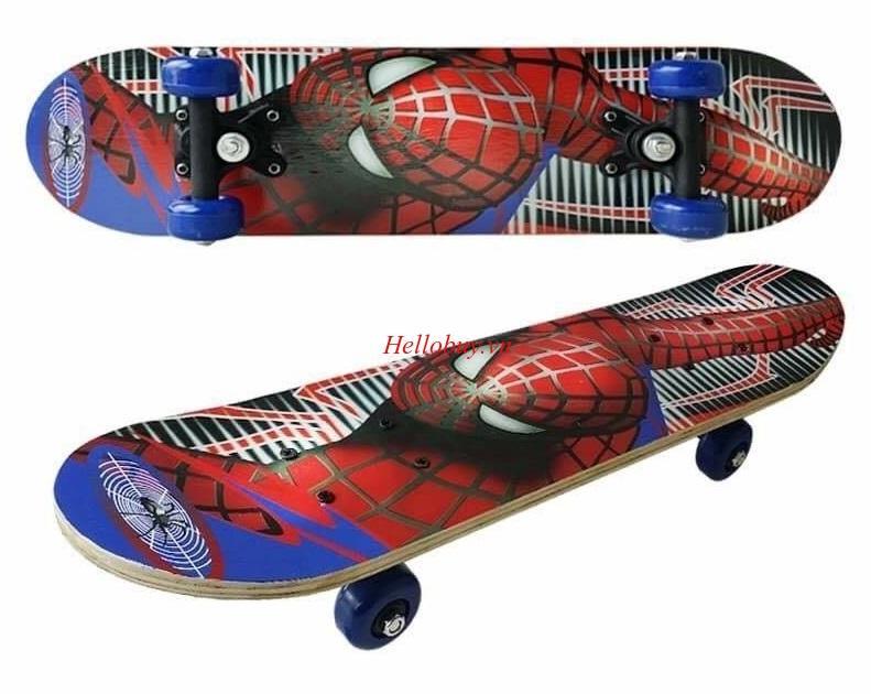 Ván Trượt  Thể Thao Skateboard Cho Trẻ Em (Người Nhện