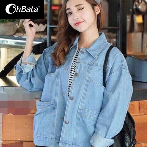 Hình ảnh Áo Khoác Jeans Nữ 4 Túi Cao Cấp OHS523