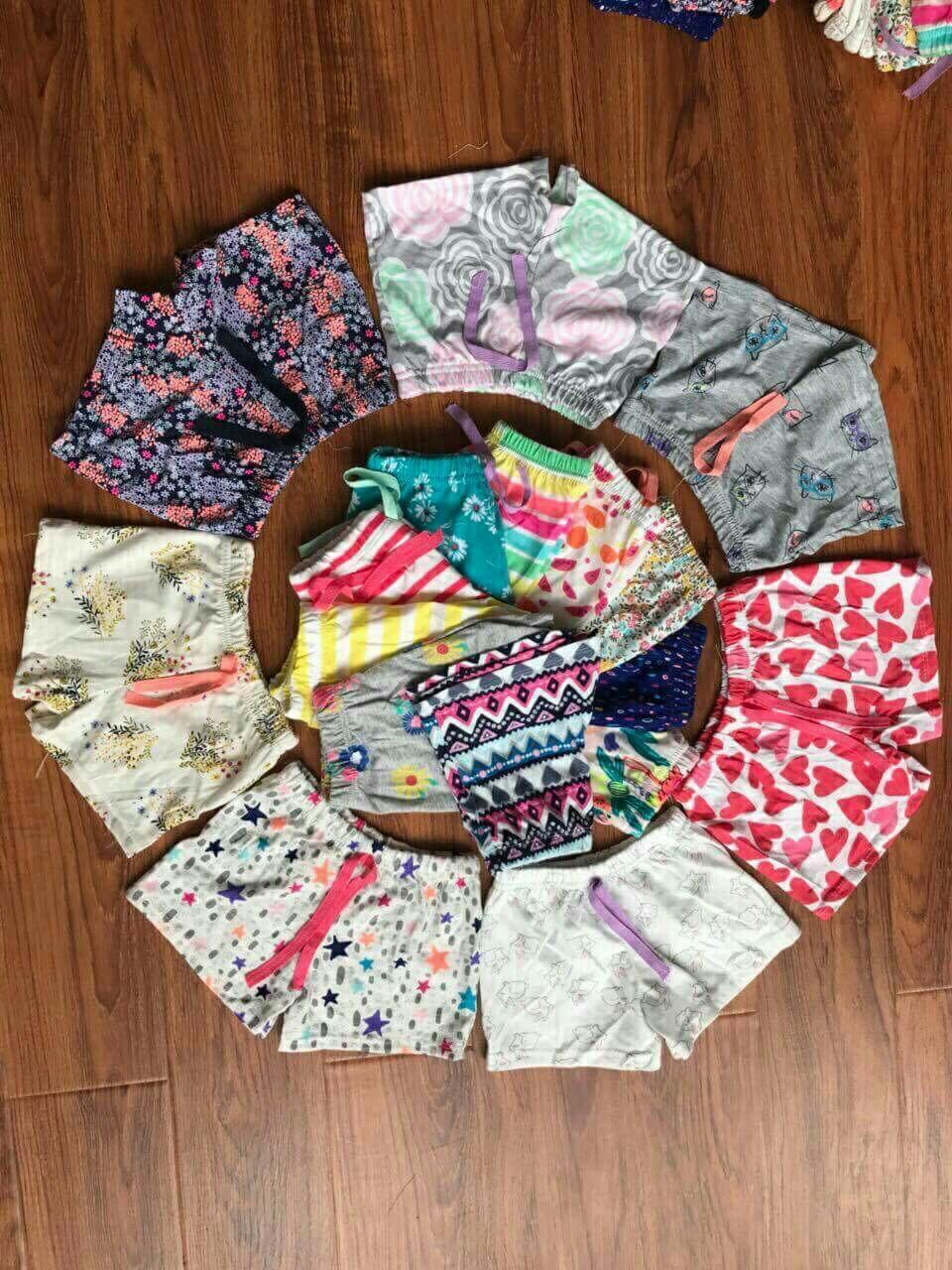 Giá bán Set 5 quần đùi xuất dư cho bé gái 8-16kg
