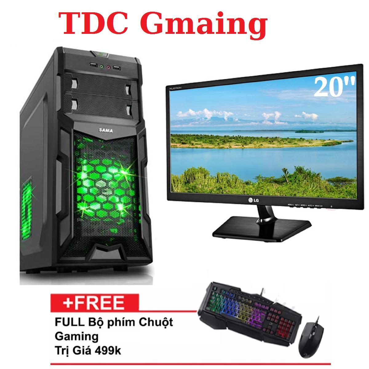 { FULL } Bộ máy tính game TDCGaming intel core i7 2600/ Ram 8gb/ Hdd 2000gb , Màn hình LG 20 inch - Tặng phím chuột giả cơ chuyên game - Bảo hành 24 tháng 1 đôi 1.