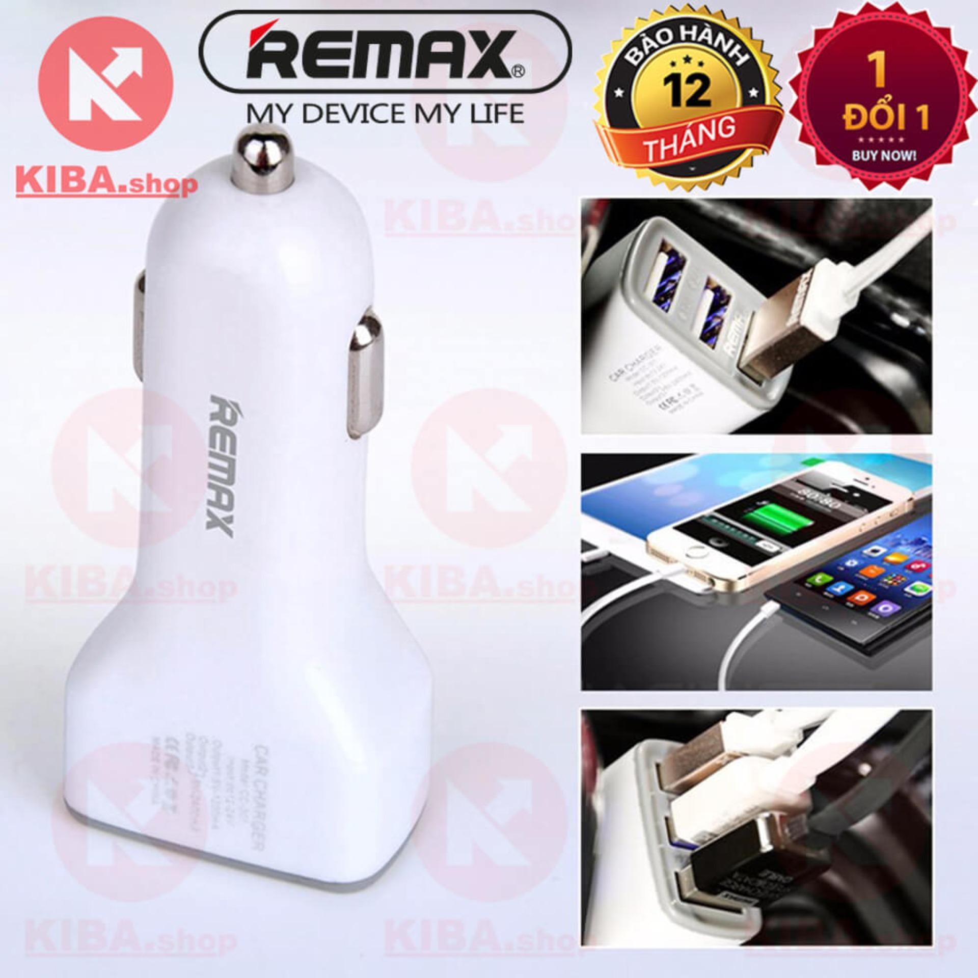 Hình ảnh Tẩu sạc nhanh ô tô 3 cổng USB 3.6A Remax xịn CC301