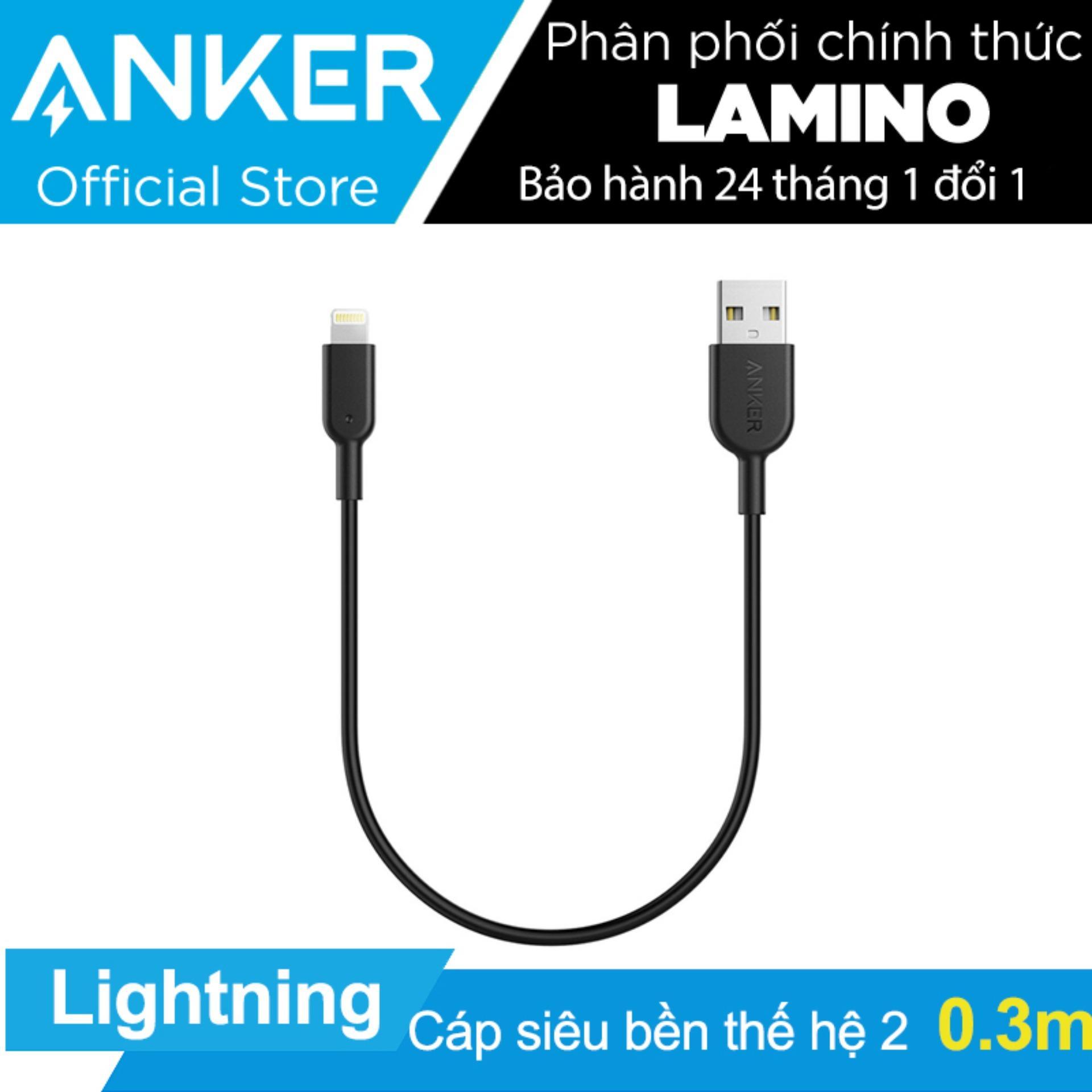 Bán Cap Sieu Bền Thế Hệ 2 Anker Powerline Ii Lightning Dai 3M Cho Iphone Ipad Hang Phan Phối Chinh Thức Rẻ Trong Hồ Chí Minh