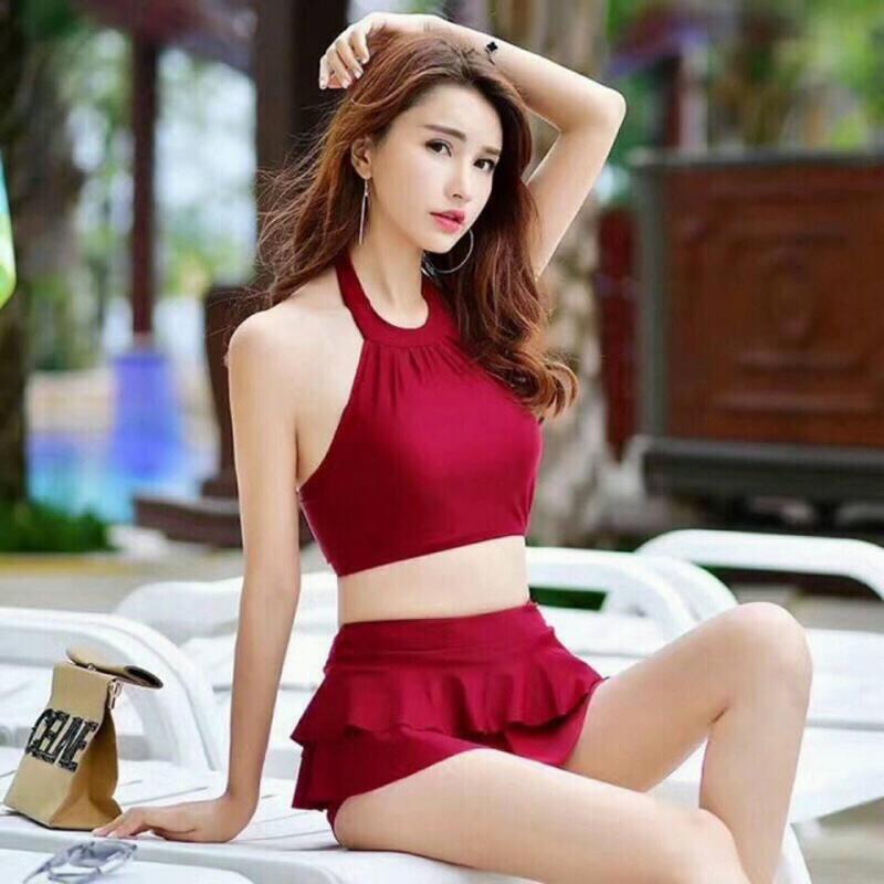 Nơi bán Bộ đồ bơi nữ đẹp - Đồ tắm biển dạng váy Bộ đồ bơi nữ dễ thương phong cách Hàn Quốc - Bikini và áo tắm nữ