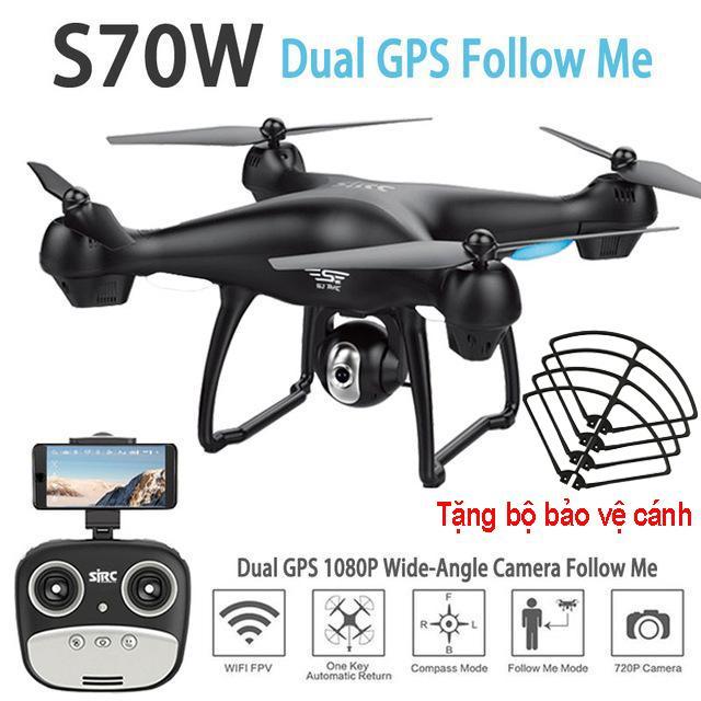 Hình ảnh Flycam SJRC S70W new 2018 - Camera 1080P, GPS, Tự đi theo chủ, Camera điều chỉnh góc 90 độ