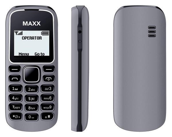 ĐTDĐ MAXX N1280 (Xám) - Bảo hành 12 tháng - HÃNG PHÂN PHỐI CHÍNH THỨC