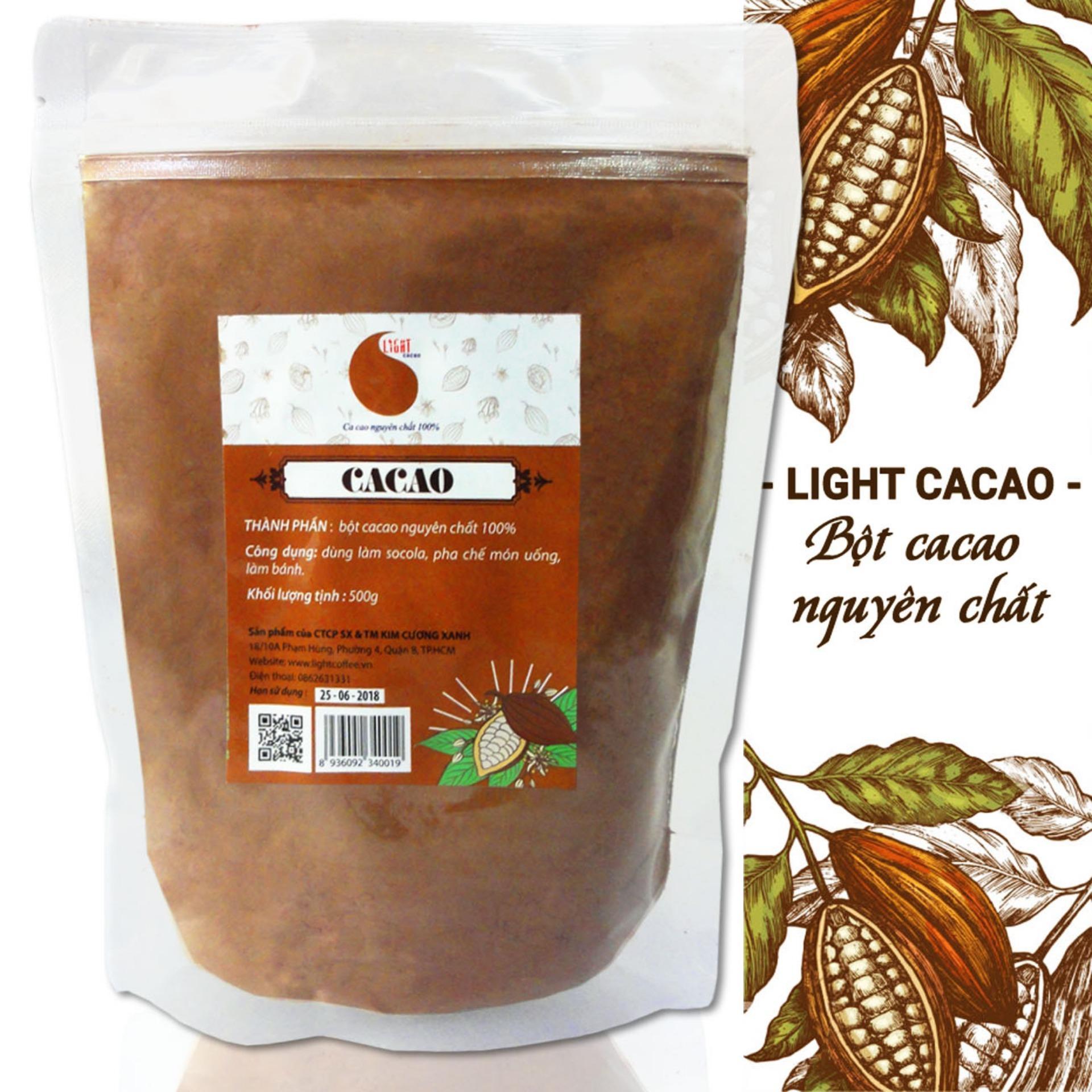 Giá Bán Bột Cacao Nguyen Chất Khong Đường Light Cacao Goi 500Gr Nguyên