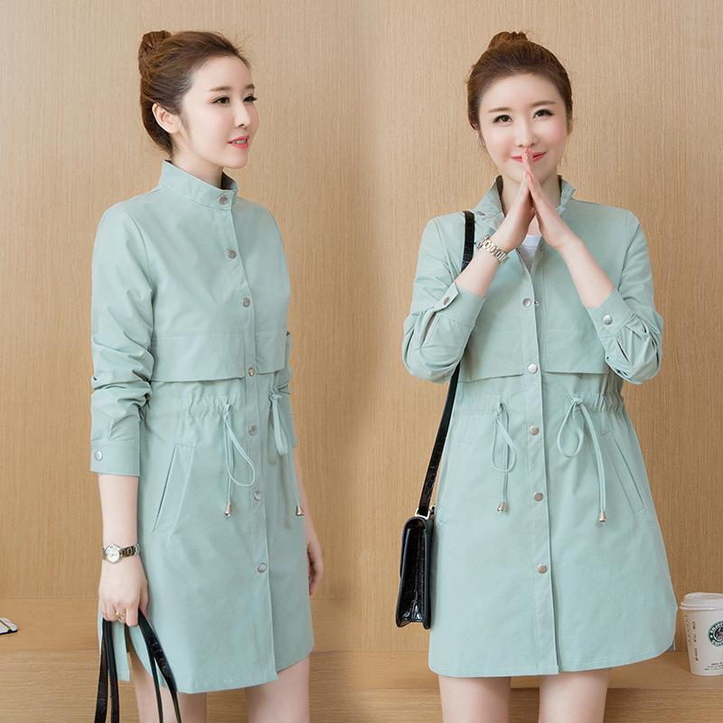 2019 Busana Musim Semi Model Baru Gaya Korea Ukuran Besar Lulu Jaket Angin Jaket Baju Wanita Model Setengah Panjang Netral Casual Chic Kecil Mantel By Koleksi Taobao.