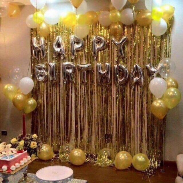 Hình ảnh Rèm kim tuyến 1 x 3m và 1 x2m trang trí sinh nhật