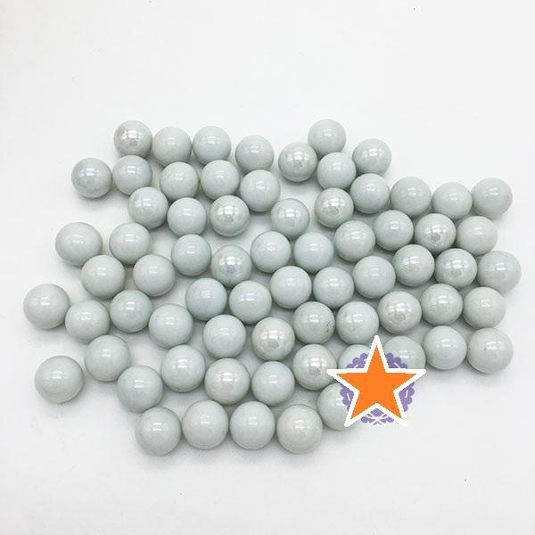 Hình ảnh Bộ 70 viên bi sứ màu trắng đục size 1.6 cm bằng thủy tinh PDL