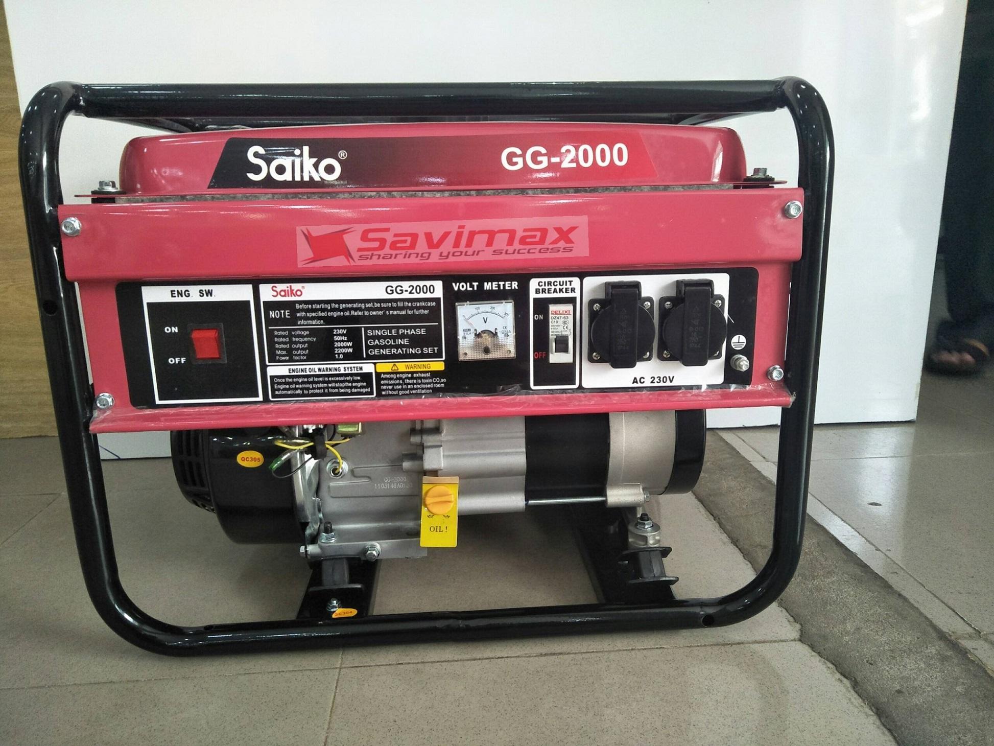 Máy phát điện gia đình Saiko 2.2kw