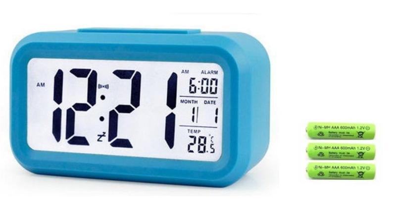 Đồng Hồ Điện Tử Để Bàn Có Đèn LED, Báo Thức, Đo Nhiệt Độ + 3 Pin Đũa Sạc AAA ( Lắp Cho Đồng Hồ Sạc Lại Được ) bán chạy