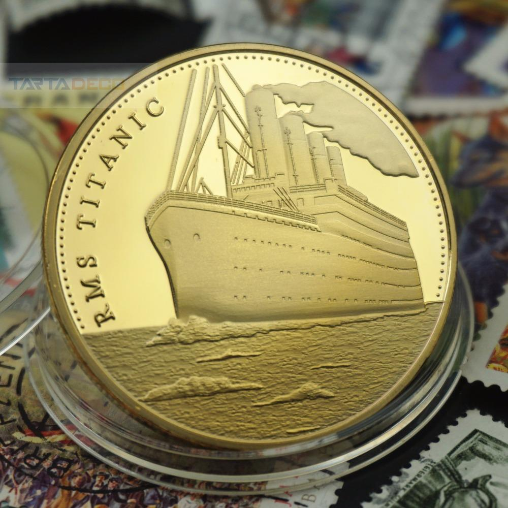 Voyage Of Titanic Commemorative Coins Golden Rms Wish Souvenir Coin Diameter 40mm Metal Gold-Plating - Intl By Pandaoo Store.