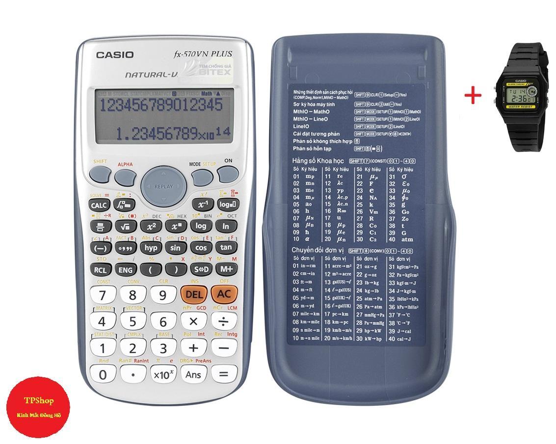 Mua Máy tính casio FX570 VN PLUS + Tặng 1 Đồng Hồ C8