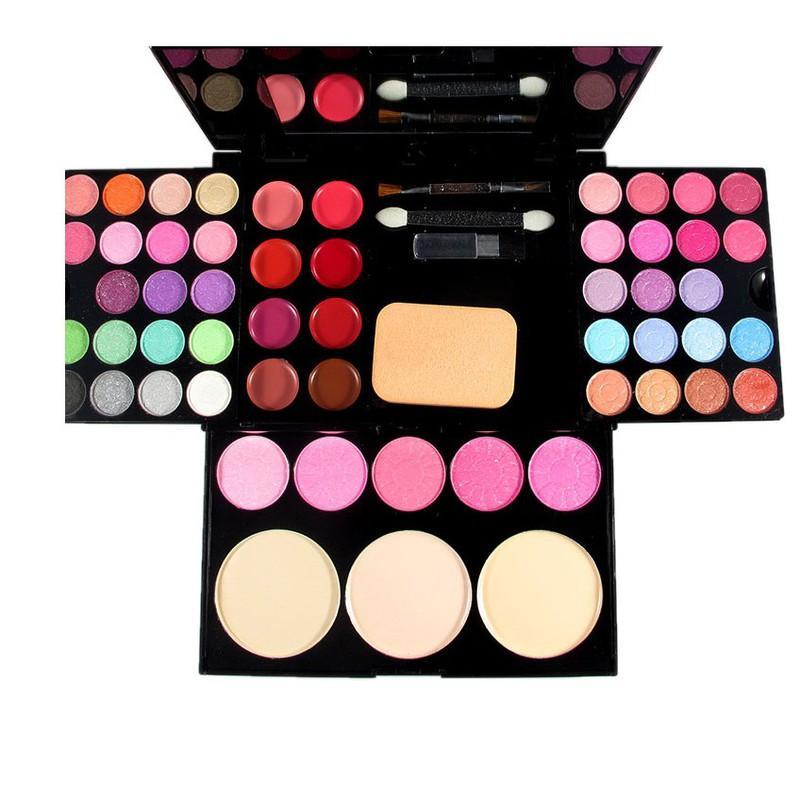 Hình ảnh Bộ kit trang điểm 3 tầng gồm: 3 màu phấn nền, 4 phấn má hồng, 8 màu son môi và 24 màu mắt sắc đẹp