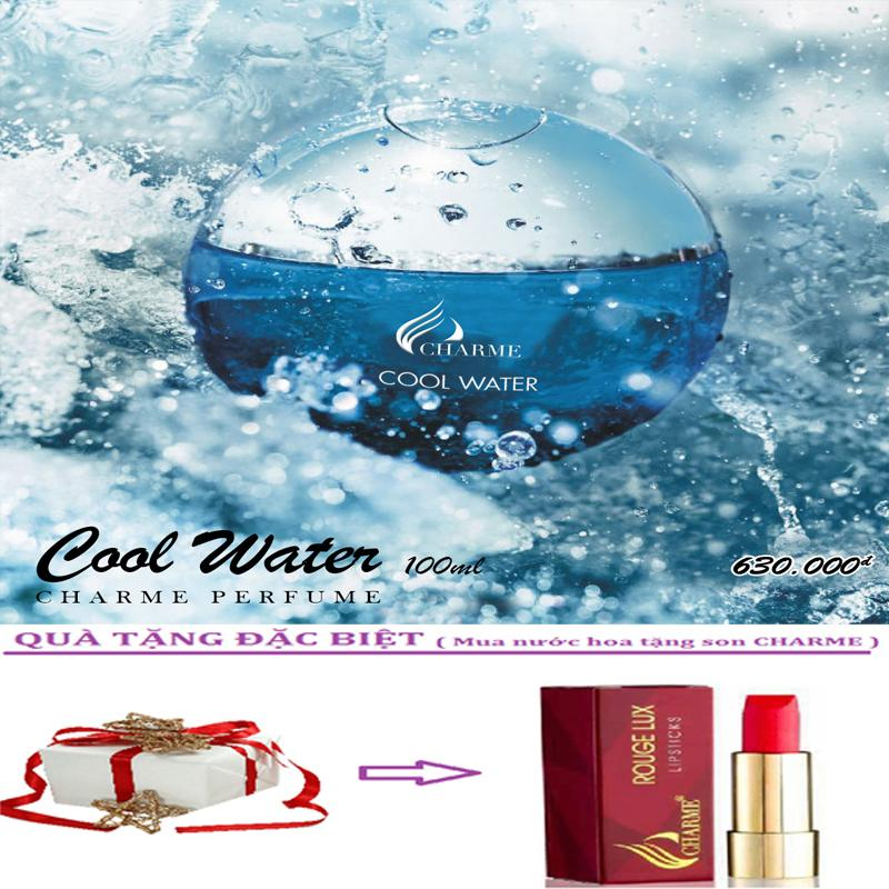 Ôn Tập Trên Nước Hoa Nam Charme Cool Water 100Ml Tặng Kem Son Charme