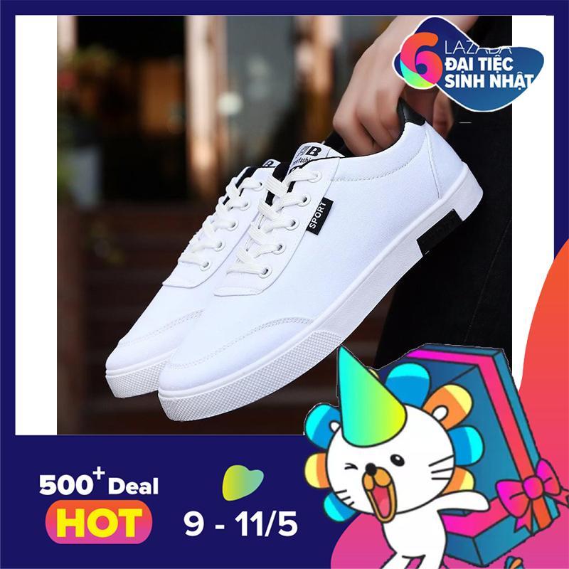 Mua Giay Sneaker Nam Thời Trang Dodaco Ddc2091 838 1 Đen Trắng Xanh Trong Bắc Ninh