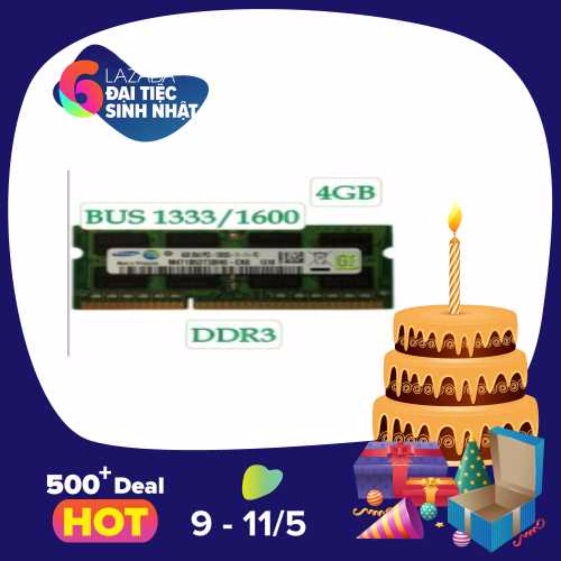 Bán Ram Laptop Samsung Ddr3 4Gb Bus 1333 1600 Có Thương Hiệu Rẻ