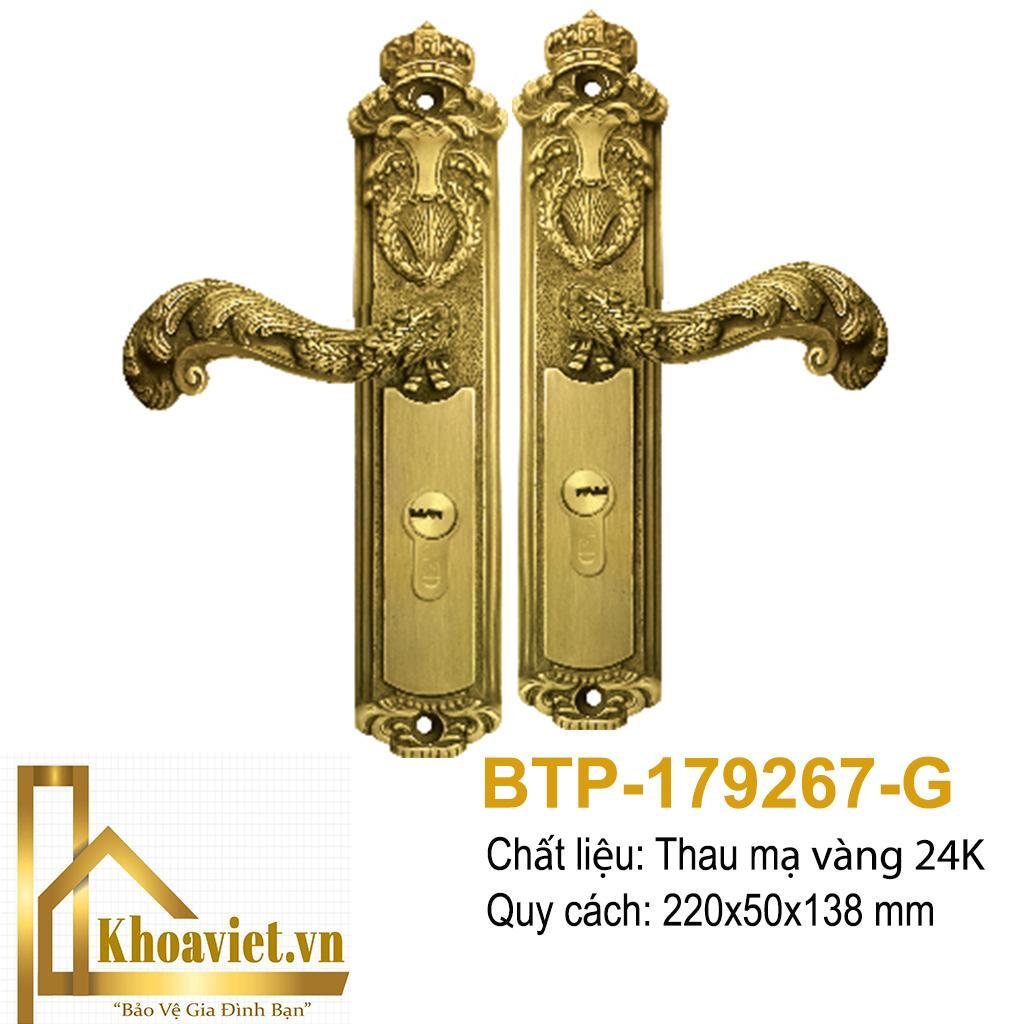 Tay Ốp Khóa Mạ Vàng BTP-179267-G