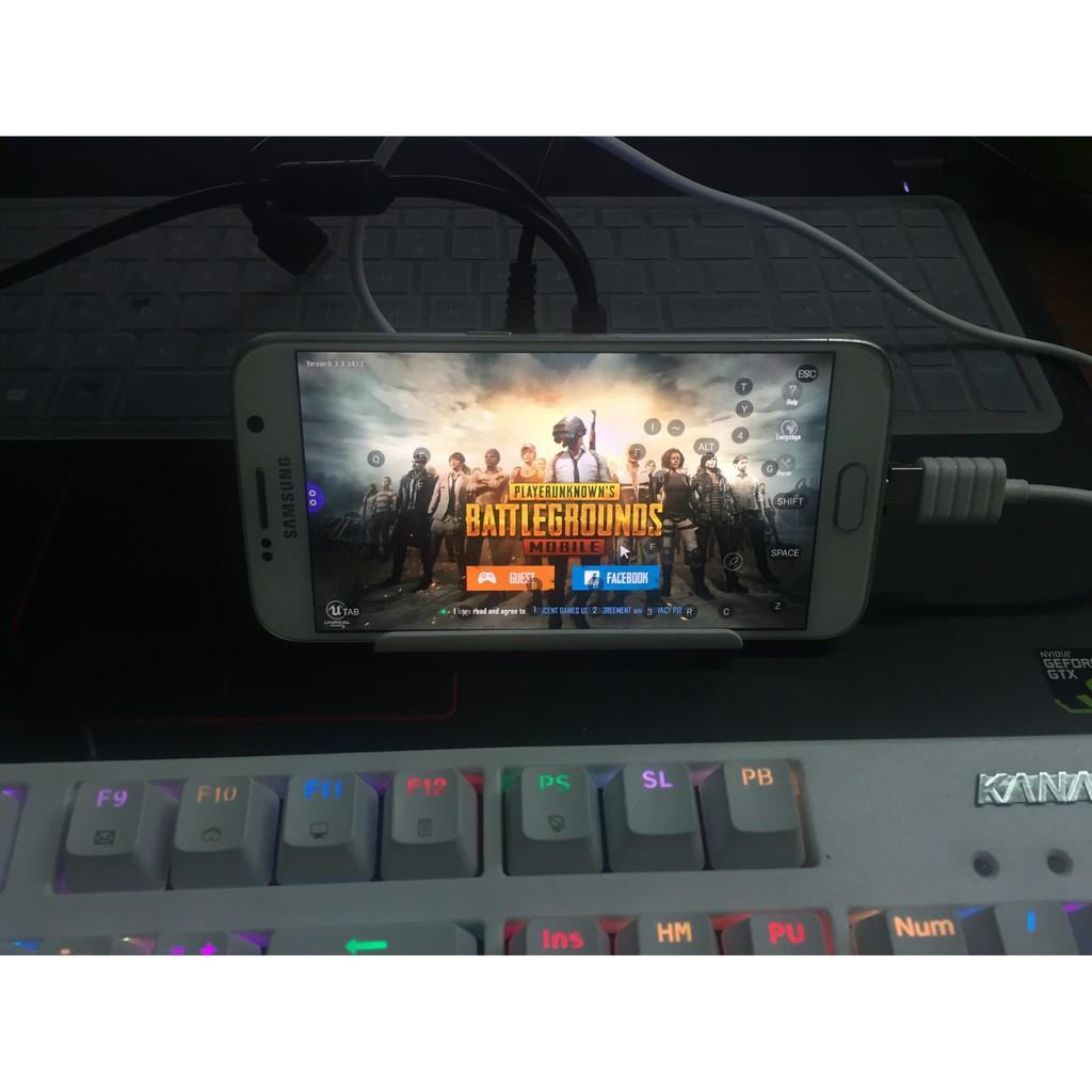 Hình ảnh Dock kết nối phím chuột với điện thoại android Chiến game mobile bằng bàn phím và chuột USB OTG